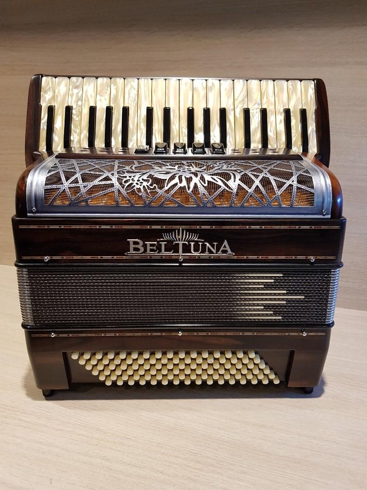 Beltuna Alpstar III 34/96 M HELICON accordeon 8,3 kg ebbenhout