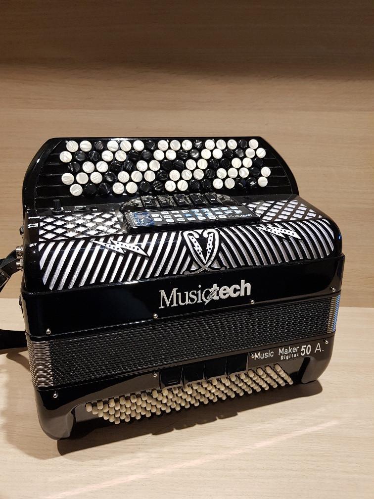 Musictech Music Maker Digital 50A digitale accordeon chromatisch demo