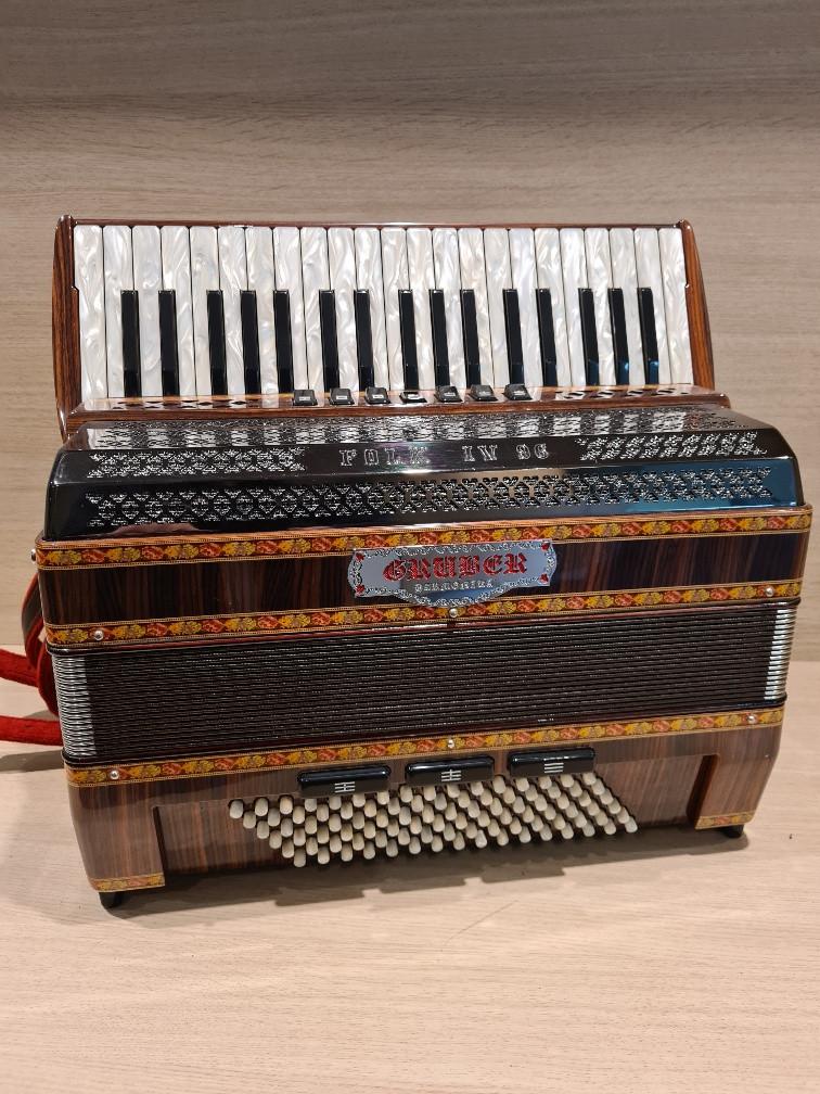 Gruber (Piermaria) Folk IV 96 M Palisander occasion accordeon