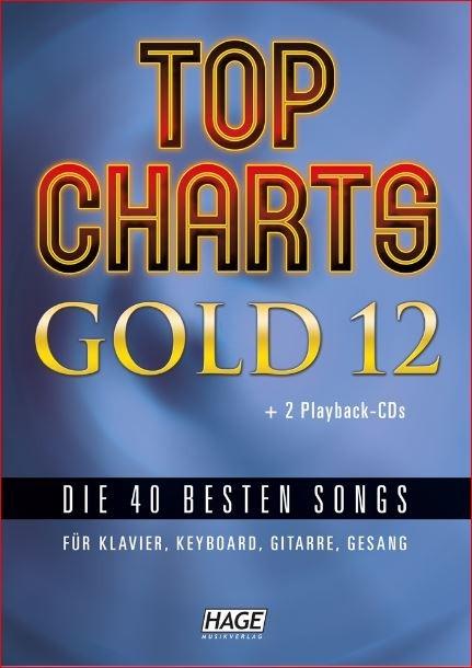 Hage: Top Charts Gold 12 (incl. 2 CD's) + 40 midi-files (óók speciaal voor Yamaha XG/XF systeem)