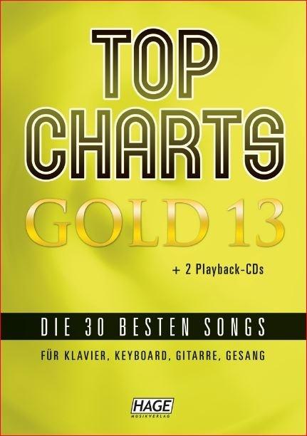 Hage: Top Charts Gold 13 (incl. 2 CD's) + 30 midi-files (óók speciaal voor Yamaha XG/XF systeem)