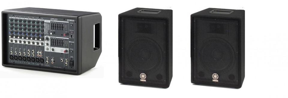 Yamaha EMX212S powered mixer incl. 2 stuks Yamaha AX10 speakers