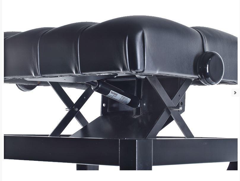 Discacciati GL-Caps PE Hydraulische pianobank zwart hoogglans zwart skai