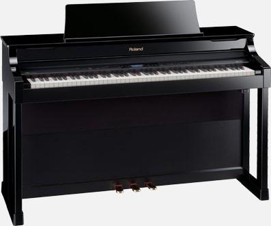 Roland HP-307 PE occasion zwart hoogglans digital piano