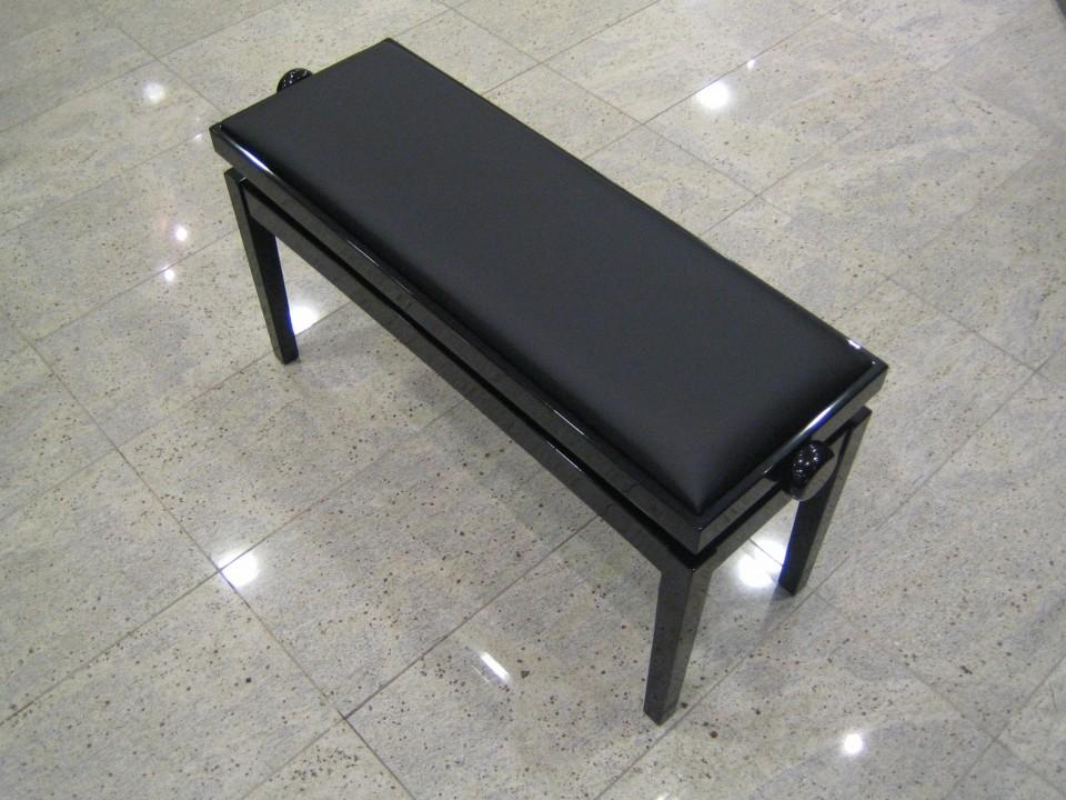 Discacciati 106 SM PE 2-persoons pianobank zwart hoogglans