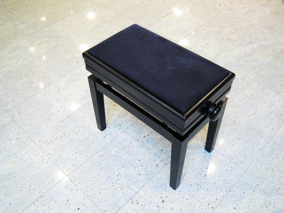 Discacciati 109SM SB pianobank met berging Black Satin