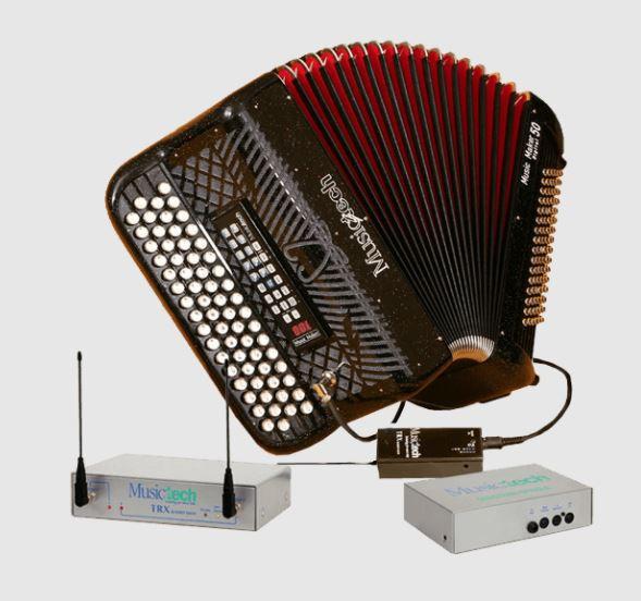 Musictech Music Maker Digital 50 digitale wireless accordeon chromatisch French System draadloos