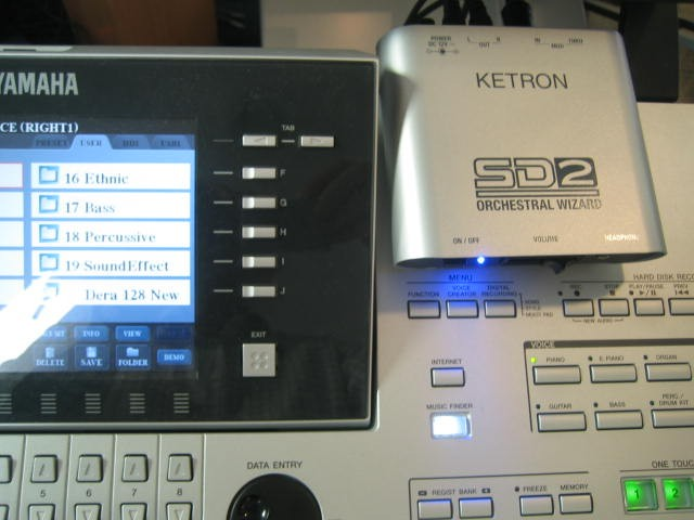 Ketron SD2 incl. SoundPatch voor Tyros3