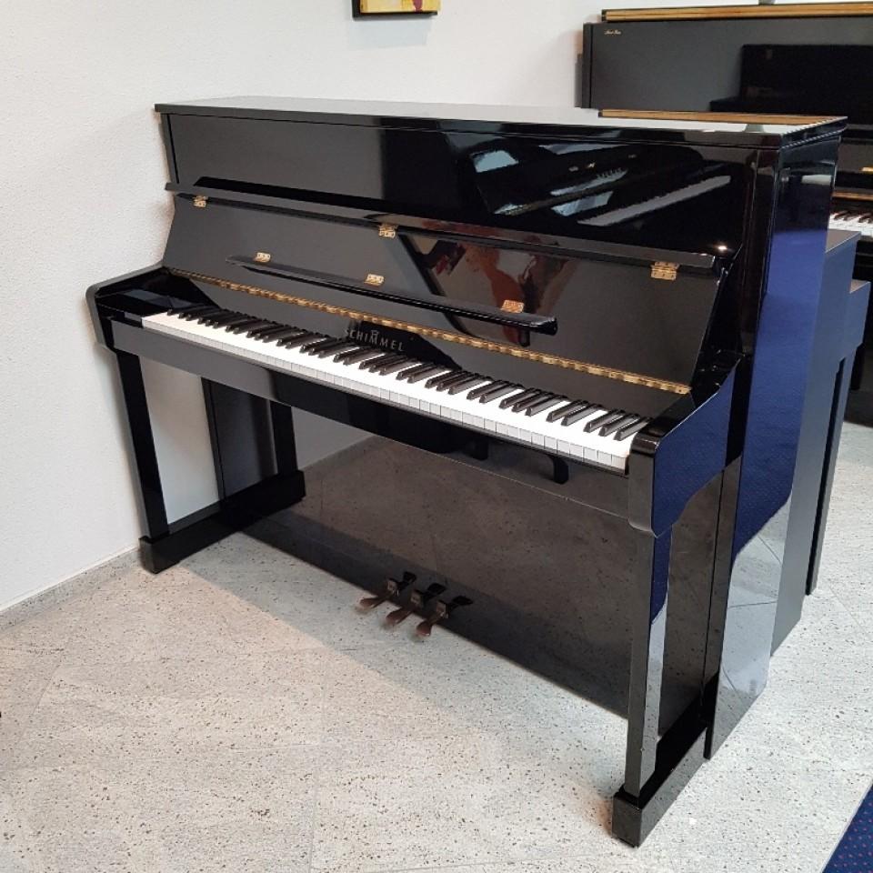 Schimmel 116S Silent zwart hoogglans topklasse piano occasion