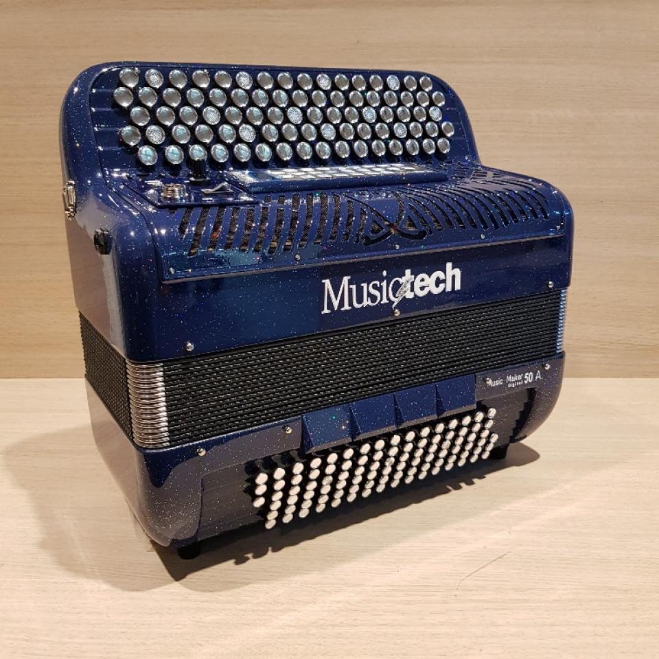 Musictech Music Maker Digital 50A digitale accordeon chromatisch French System demo