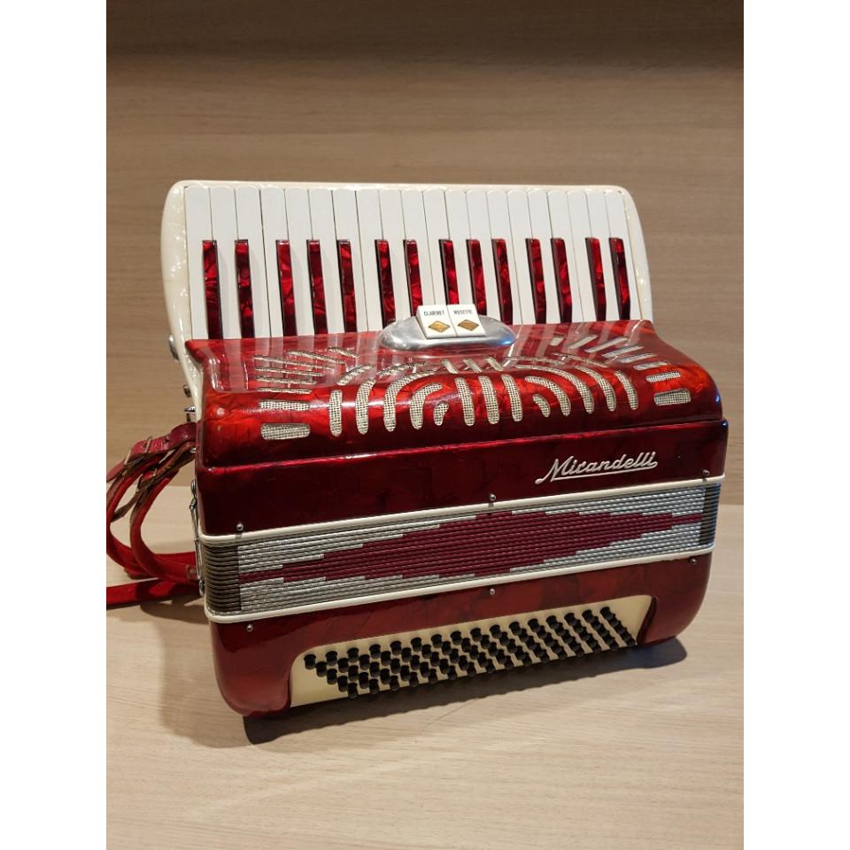 Mirandelli II 80/34 Rosso accordeon occasion