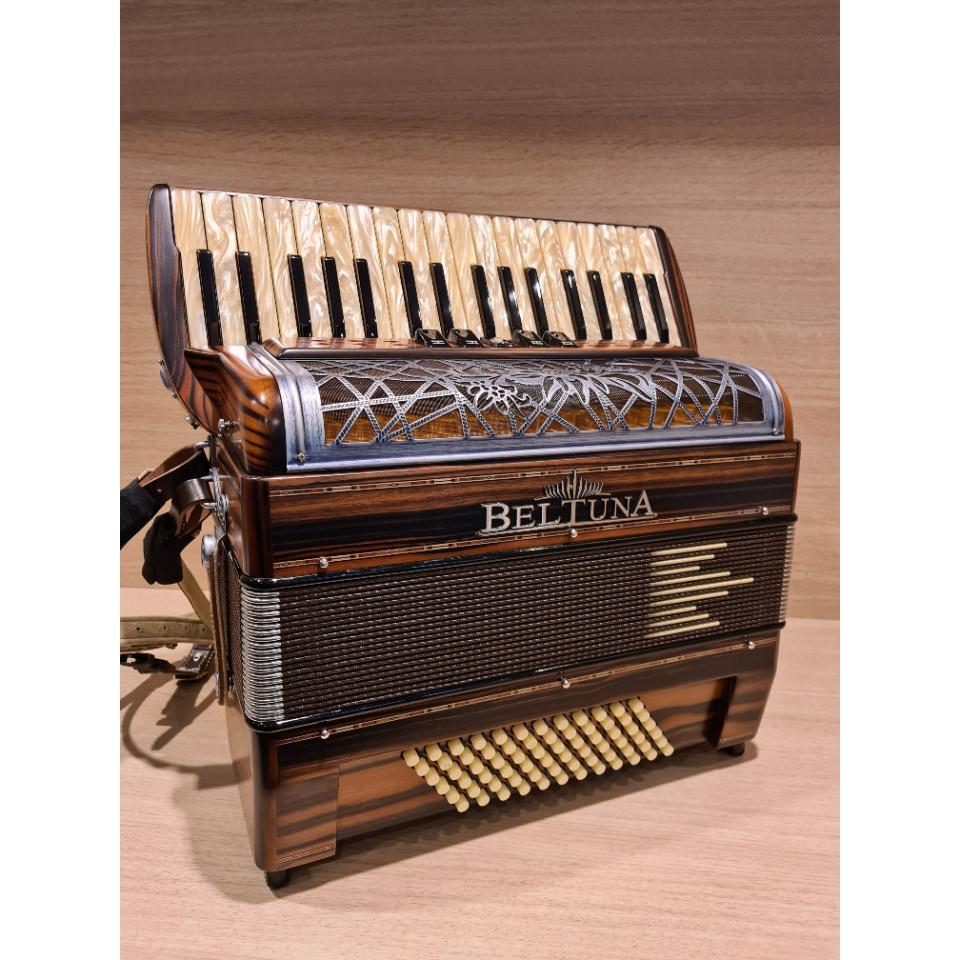 Beltuna Alpstar III 72 M HELICON accordeon 8,2 kg ebbenhout/opaal