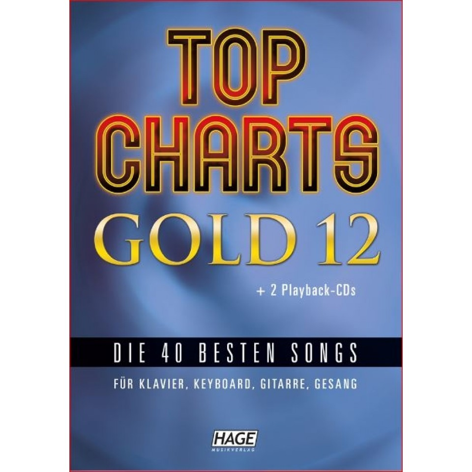 Hage: Top Charts Gold 12 (incl. 2 CD's) + 40 midi-files (óók speciaal voor Yamaha XG/XF systeem)