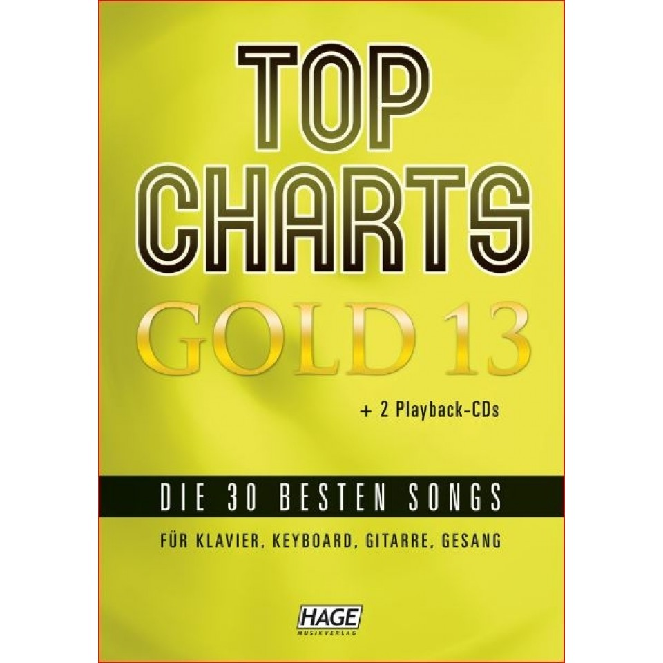 Hage: Top Charts Gold 13 (incl. 2 CD's) + 30 midi-files (óók speciaal voor Yamaha XG/XF systeem)