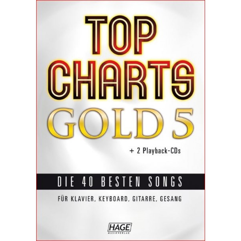 Hage Top Charts Gold 5 (incl. 2 CD's) + 40 midi-files (óók speciaal voor Yamaha XG/XF systeem)