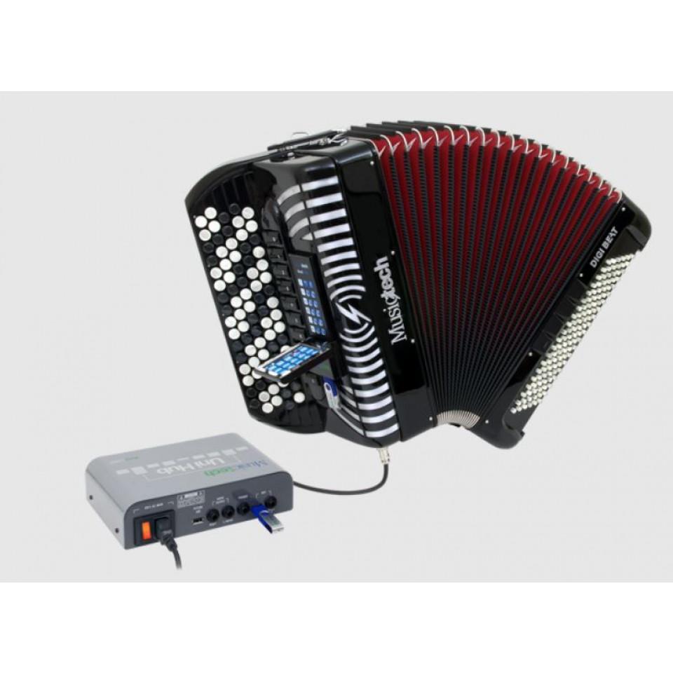 Musictech Dual Link Digi Beat digitale accordeon chromatic