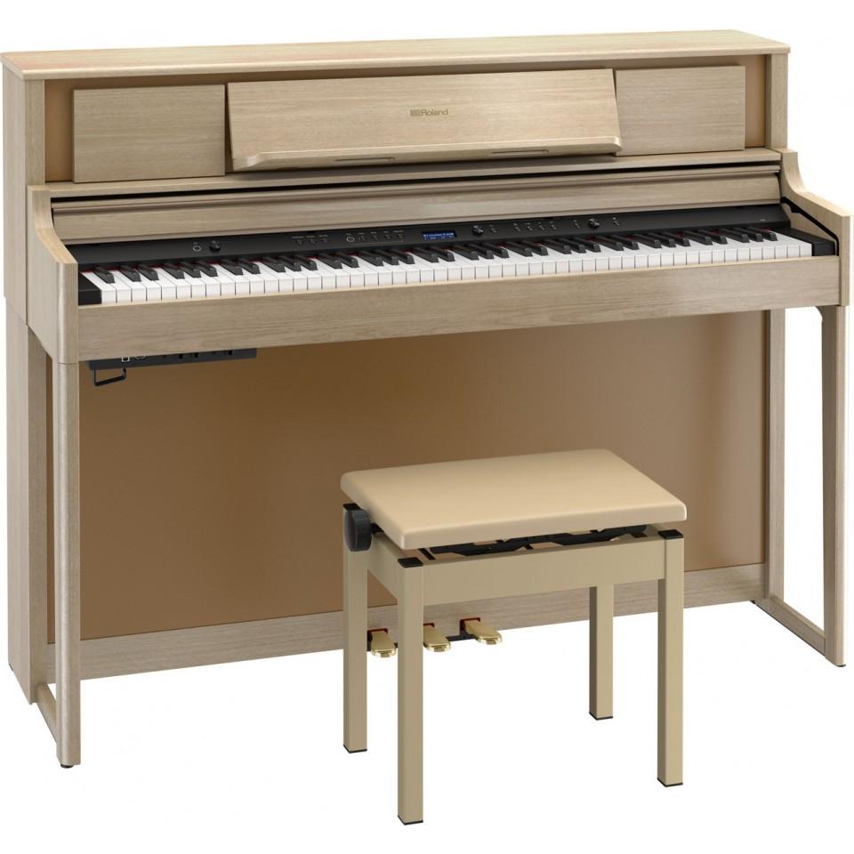 Roland LX705 LA digitale piano licht eiken