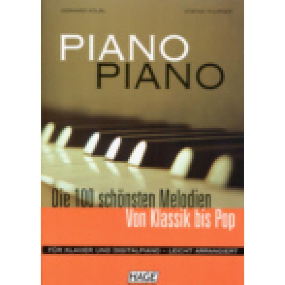 Hage: Piano-Piano + 100 midi-files (eenvoudig gearrangeerd)