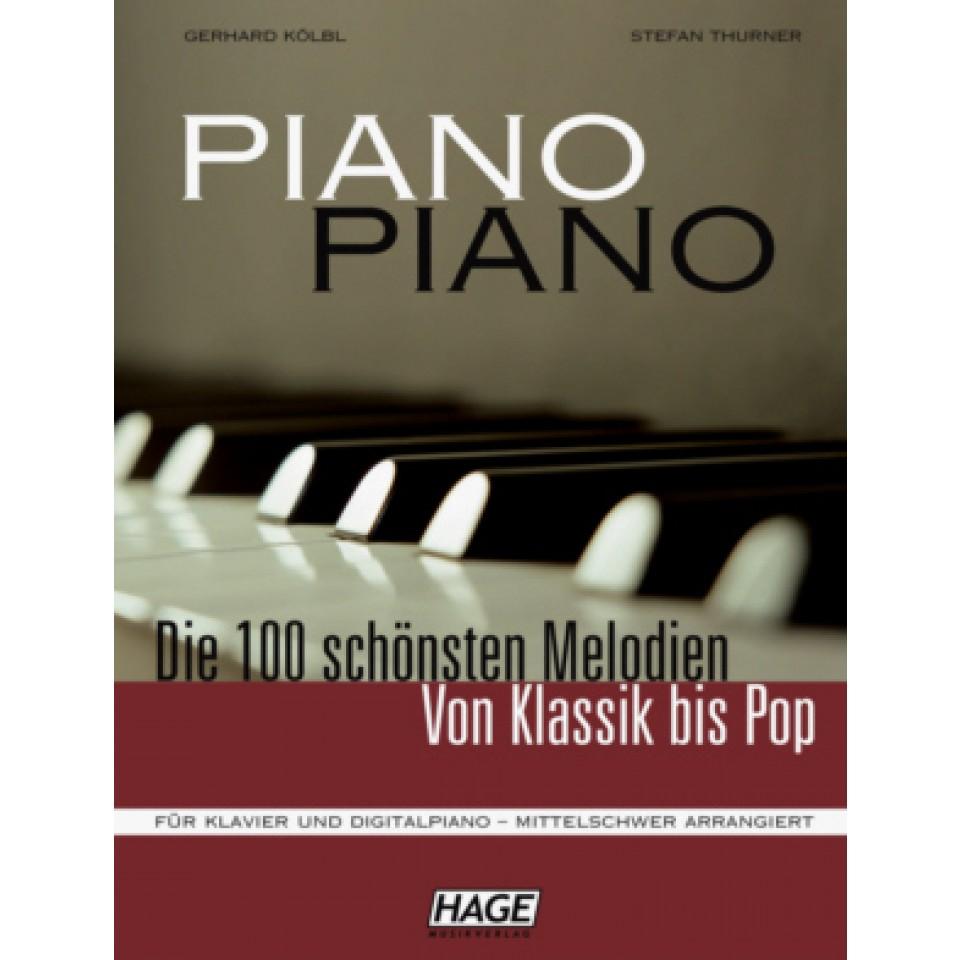 Hage: Piano-Piano + 100 midi-files (middelzwaar gearrangeerd)