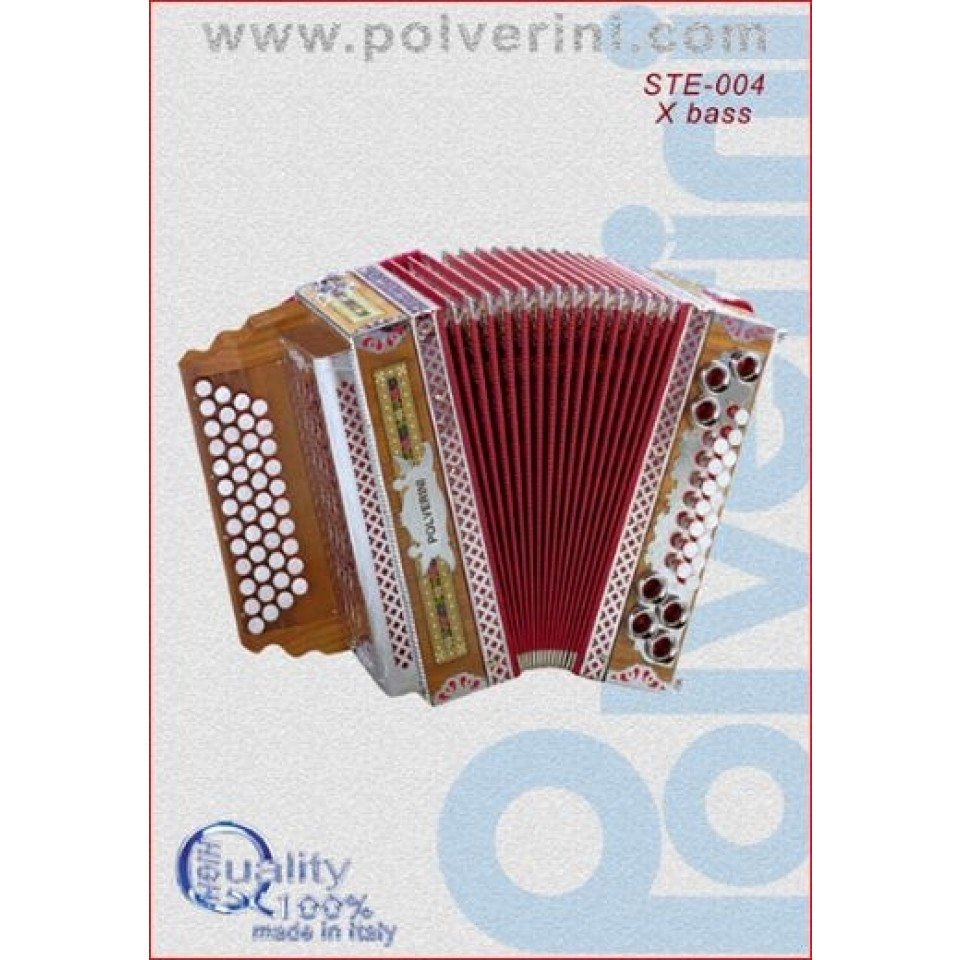 Polverini steir. harmonica G/C/F/Bb STE-004-X