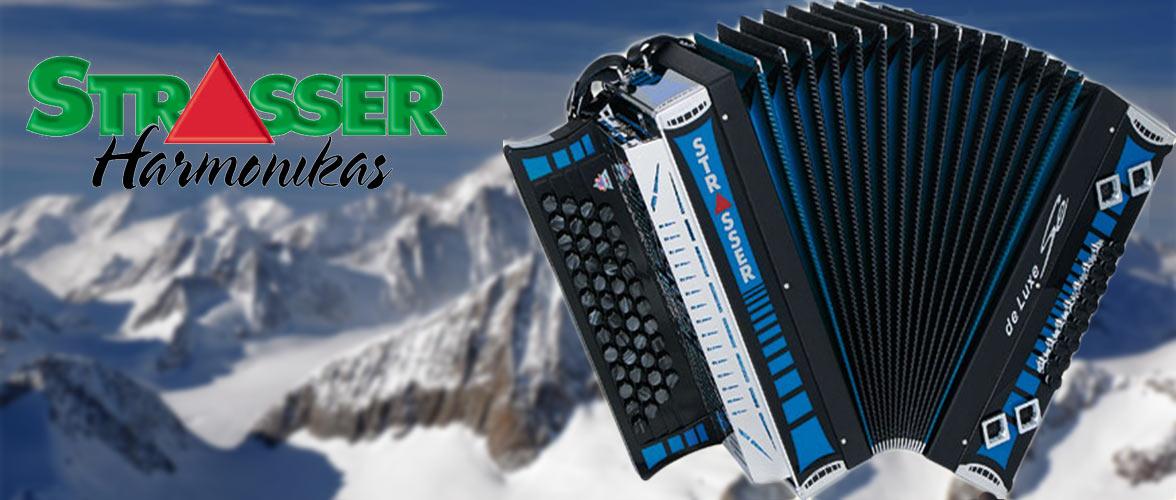 ruime collectie Strasser steirische harmonica's zowel nieuw als gebruikt